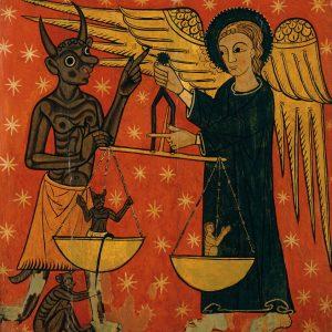 Lateral d'altar del Mestre de Soriguerola, al Museu Episcopal de Vic.