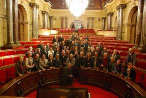 Els participants a la visita al Parlament de Catalunya.